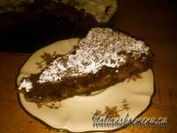 торт с грушами и шоколадом