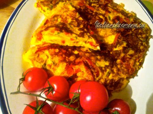 рецепт яичницы с овощами