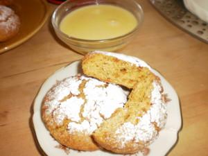 печенье с кукурузной мукой и кремом из маскарпоне