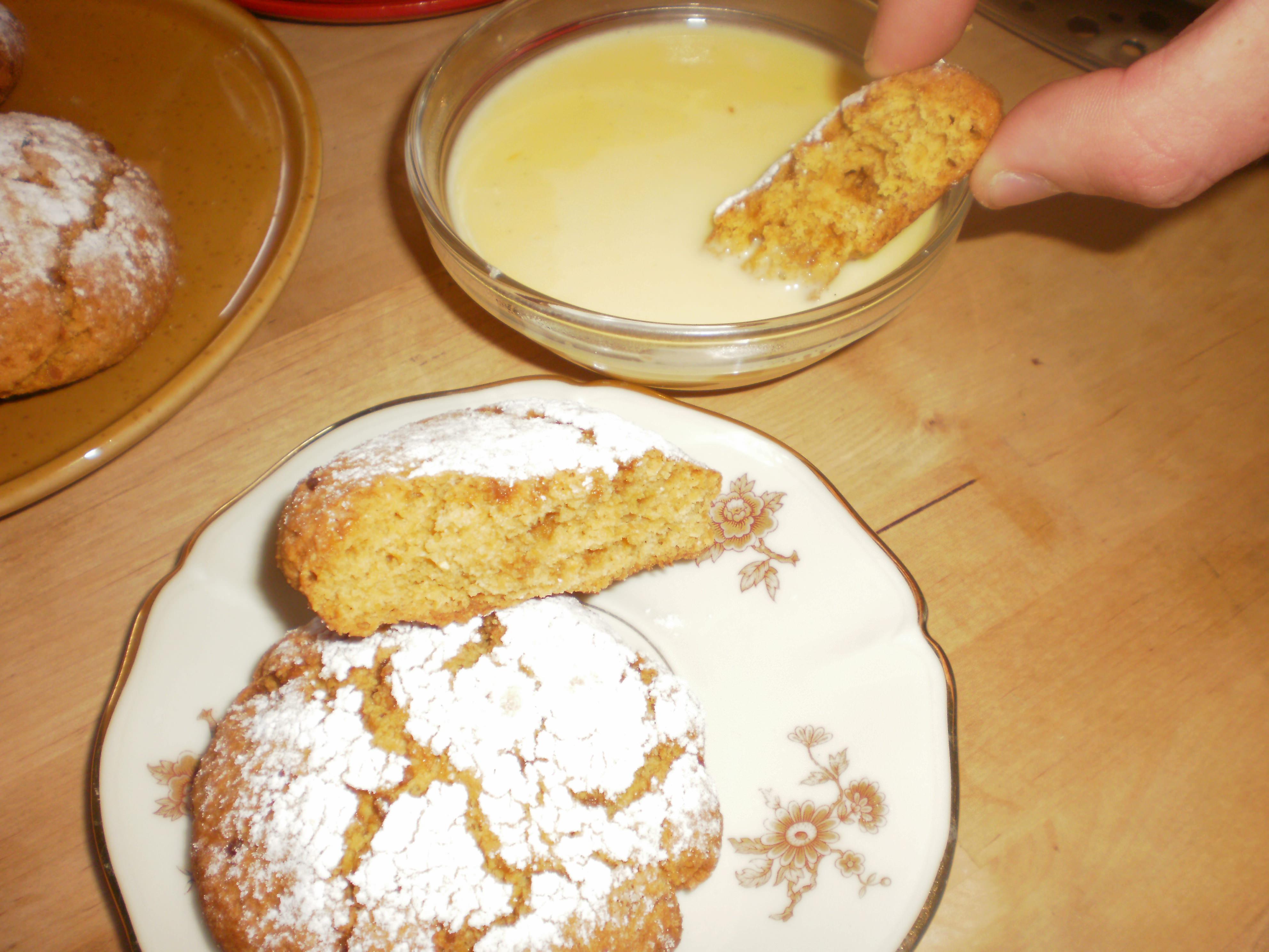 печенье с кукурузной мукой и кремом маскарпоне