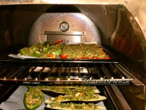 овощи запекаем в разогретой духовке