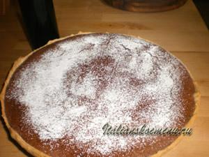шоколадный пирог готов