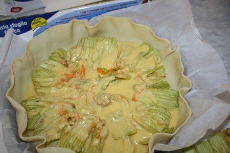 рецепт пирога с цветами кабачков