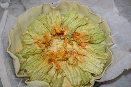 рецепт пирога с цветками кабачков