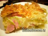 запеканка из картофеля и кабачков
