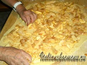 рецепт штруделя с яблоками
