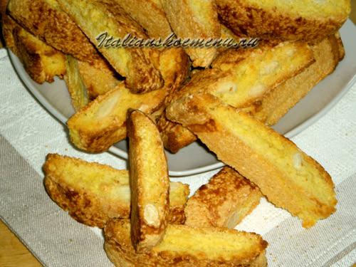 кантуччи итальянское печенье с миндалем