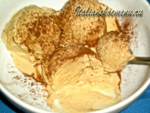Вкусное домашнее мороженое с кофейным вкусом