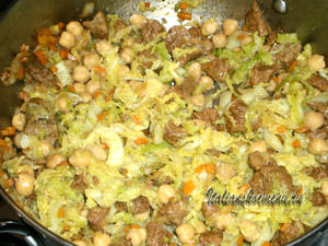 кускус с мясом и овощами