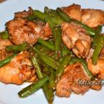 вкусная курица с зеленой фасолью