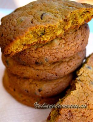 быстрое печенье с шоколадной крошкой