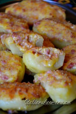 картофель фаршированный в духовке