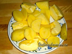 картофель и яблоки