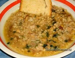Готовый суп с перловкой
