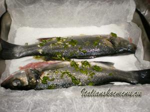 рыбу в форму