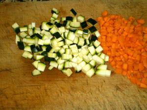 Морковь и цуккини